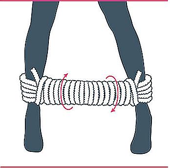 nudo bondage bastón de mando, décimo paso