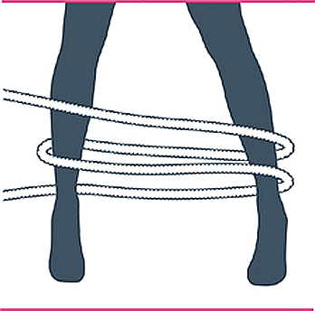 nudo bondage bastón de mando, segundo paso