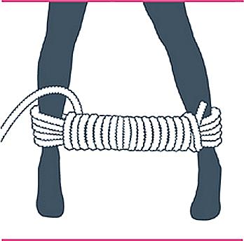 nudp bondage bastón de mando, noveno paso