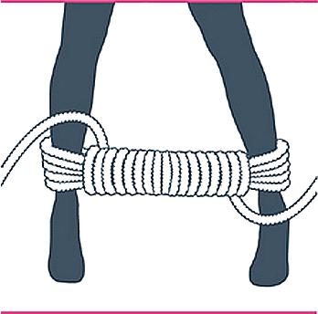 nudo bondage bastón de mando, séptimo paso