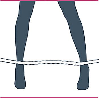 nudo bondage bastón de mando, primer paso