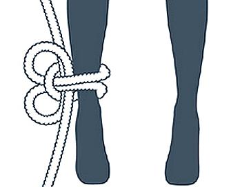 nudo cabeza de alondra, tercer paso