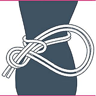 nudo bondage contrafuerte, tercer paso