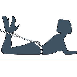 nudo bondage contrafuerte, quinto paso