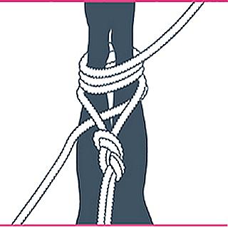 nudo bondage contrafuerte, sexto paso