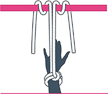 nudo bondage amarre al conocido, segundo paso