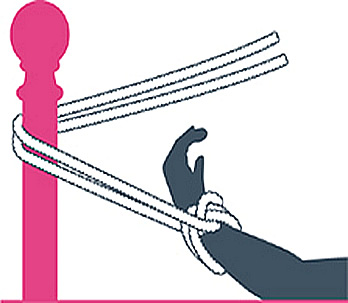 nudo bondage el palenque, paso uno