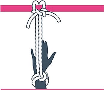 nudo bondage alondra a cabezal, cuarto paso