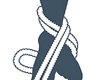 nudo bondage la cola de la sirena, tercer paso