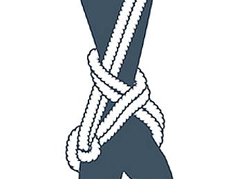 nudo bondage la cola de la sirena, quinto paso