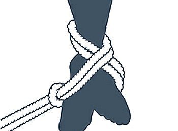 nudo bondage la cola de la sirenita, cuarto paso