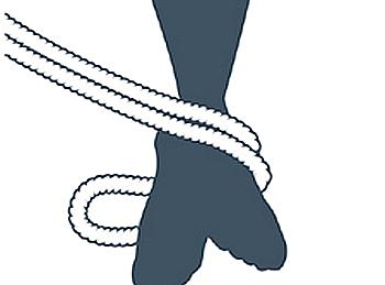 nudo bondage la cola de la sirena, segundo paso
