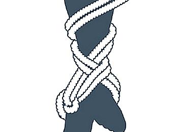 nudo bondage la cola de la sirena, sexto paso