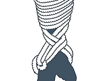 nudo bondage la cola de la sirena, séptimo paso