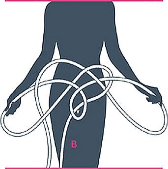 nudo bondage braga, paso cinco