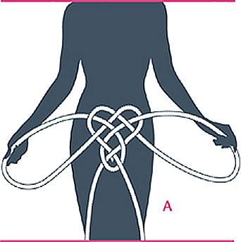 nudo bondage braga, paso seis