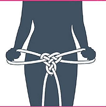 nudo bondage braga, paso siete