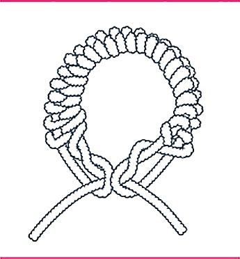 nudo bondage el collar y la liga, paso seis