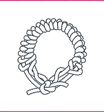 nudo bondage el collar y la liga, paso siete