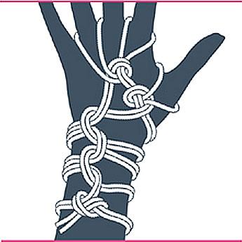 nudo bondage guantes, paso once